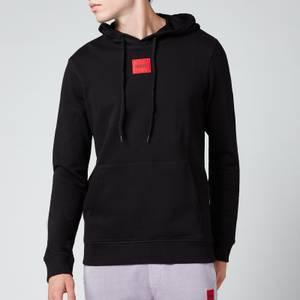 HUGO Men's Logo Patch Pullover Hoodie - Black
