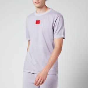 HUGO Men's Logo Patch Crewneck T-Shirt - Pastel Purple