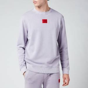 HUGO Men's Logo Patch Crewneck Sweatshirt - Pastel Purple