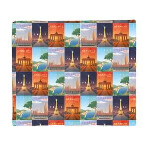 Travel Europe Fleece Blanket