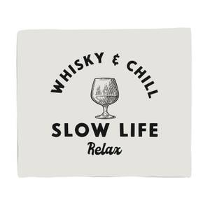 Whisky And Chill Fleece Blanket