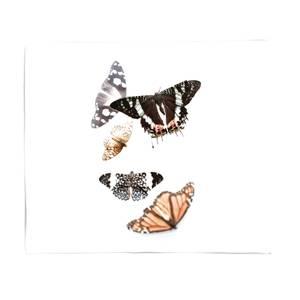 Isolated Butterflies Fleece Blanket