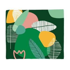 Earth Garden Print Fleece Blanket