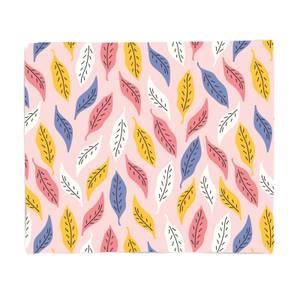 Retro Multi Leaves Fleece Blanket