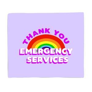 Thank You Emergency Services Fleece Blanket