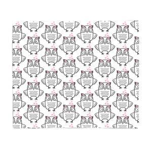 Loving Owl Fleece Blanket