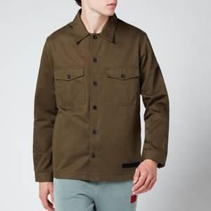 HUGO Men's Enalu Overshirt - Dark Green