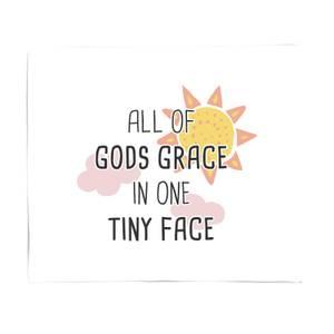 All Of Gods Grace In One Tiny Face Fleece Blanket