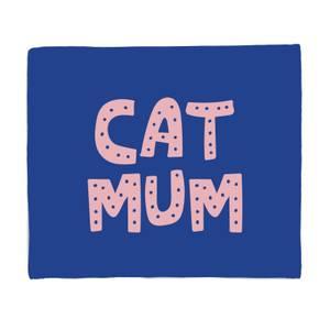 Cat Mum Fleece Blanket