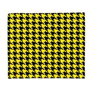 Yellow Dogtooth Fleece Blanket