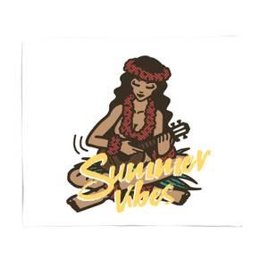 Summer Vibes Fleece Blanket
