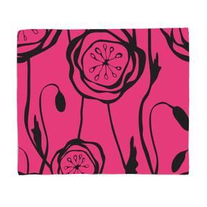 Retro Poppy Fleece Blanket