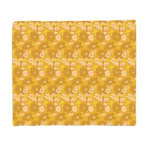 60s Floral Wallpaper Fleece Blanket