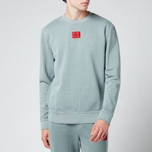 HUGO Men's Logo Patch Crewneck Sweatshirt - Pastel Blue