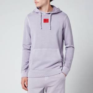 HUGO Men's Logo Patch Pullover Hoodie - Pastel Pink