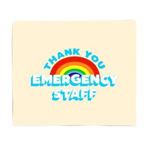 Thank You Emergency Staff Fleece Blanket