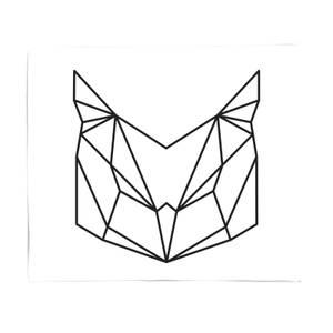 Geometric Owl Fleece Blanket