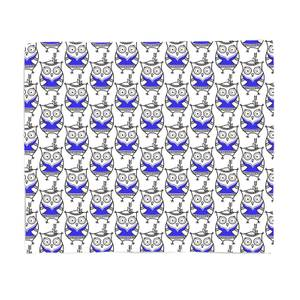 Happy Owl Fleece Blanket