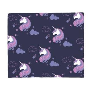 Unicorn Dreams Pattern Fleece Blanket