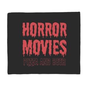 Horror Movie Pizza And Beer Fleece Blanket