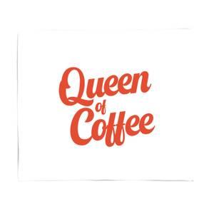 Queen Of Coffee Fleece Blanket