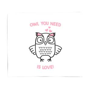 Owl You Need Is Love Fleece Blanket