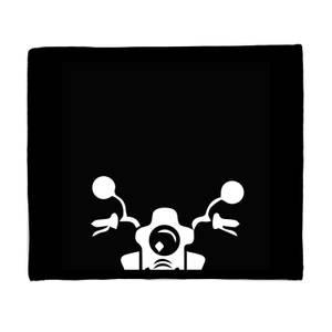 Motorcycle Front Fleece Blanket