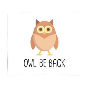 Owl Be Back Fleece Blanket