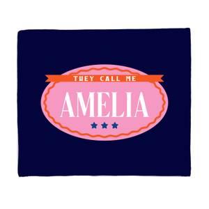 They Call Me Amelia Fleece Blanket