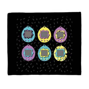 Tamagotchi Graphic Fleece Blanket