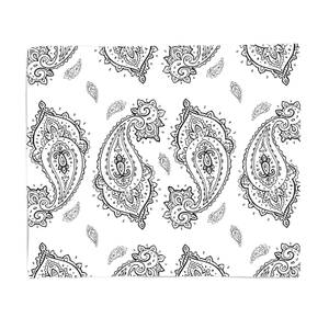 Overlapped Paisley Fleece Blanket