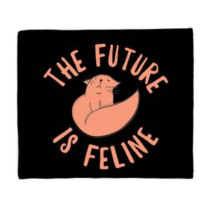 The Future Is Feline Fleece Blanket