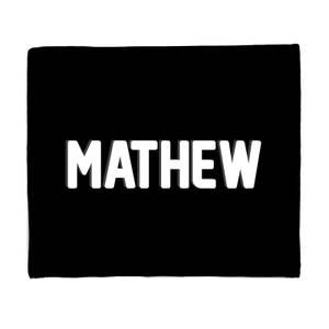 Embossed Mathew Fleece Blanket