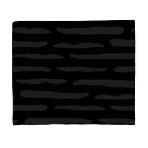 Inky Lines Fleece Blanket