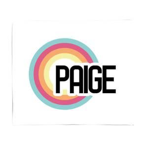 Paige Rainbow Fleece Blanket