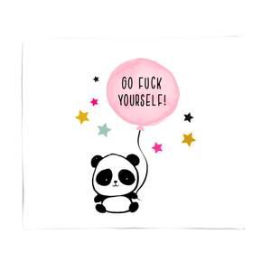 Naughty Panda Fleece Blanket