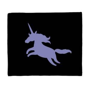 Unicorn Silhouette Fleece Blanket