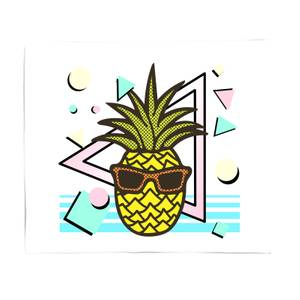 Summer Pineapple Fleece Blanket