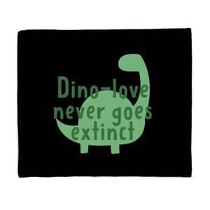 Dino-love Never Goes Extinct Fleece Blanket