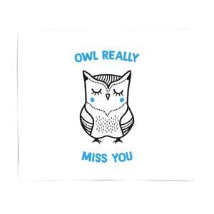 Owl Really Miss You Fleece Blanket
