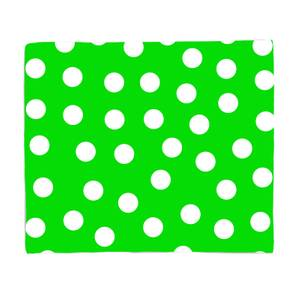 Green Polka Dots Bed Throw