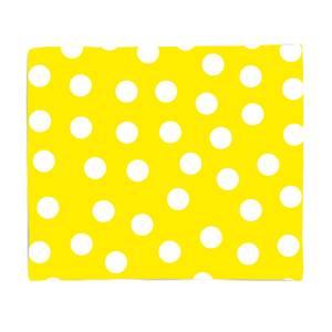 Yellow Polka Dots Bed Throw