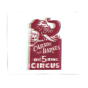 Carson And Barnes Big Five Ring Circus Bed Throw
