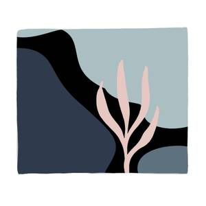 Rocks And Trees Bed Throw