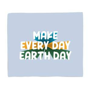 Make Every Day Earth Day Bed Throw