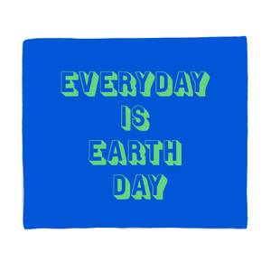 Everyday Is Earth Day Bed Throw