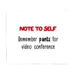 Remember Pants Bed Throw