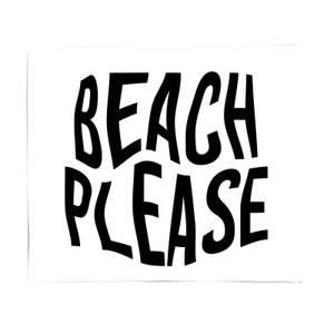 Beach Please Bed Throw