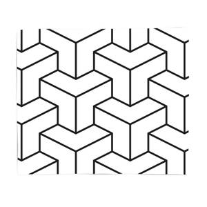 3D Cubes Bed Throw