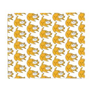 Yellow Cat Bed Throw